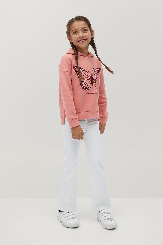 Mango Kids - Detská mikina BONI ružová