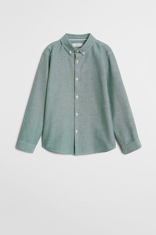 zielony Mango Kids - Koszula dziecięca Oxford 110-164 cm Chłopięcy