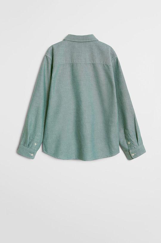 Mango Kids - Koszula dziecięca Oxford 110-164 cm zielony