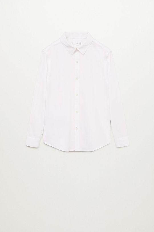 alb Mango Kids - Camasa de bumbac pentru copii Damian 110-164 cm De băieți