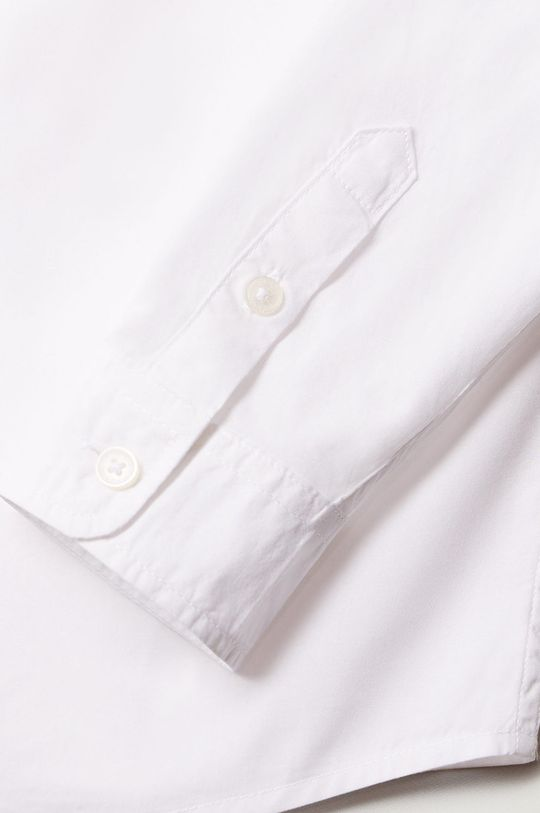 Mango Kids - Camasa de bumbac pentru copii Damian 110-164 cm alb