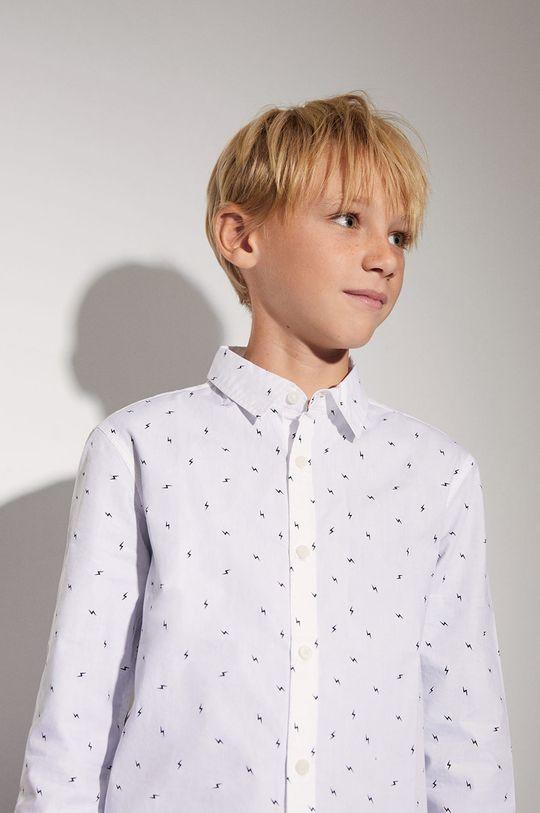 biały Mango Kids - Koszula dziecięca BOLT Chłopięcy