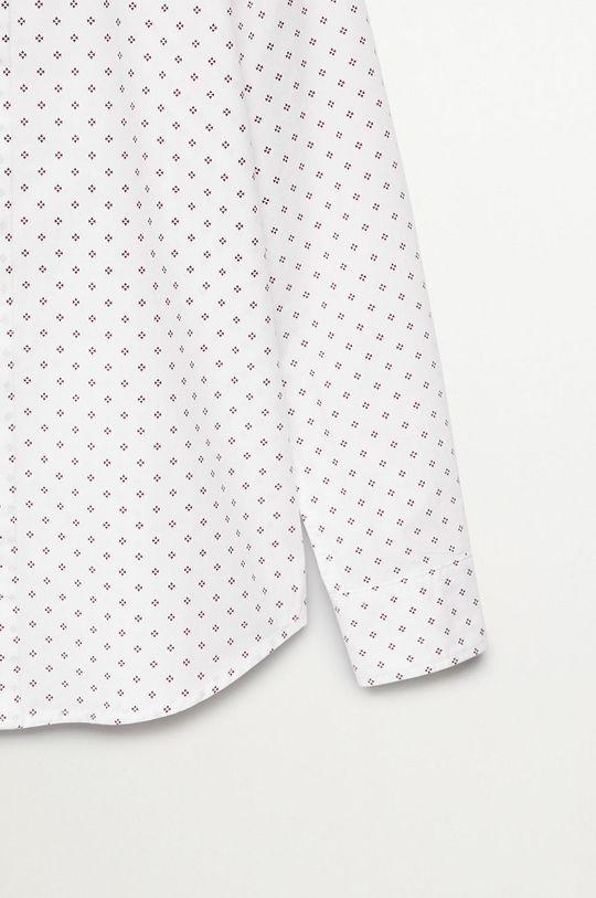 Mango Kids - Koszula dziecięca GRAPPLE biały