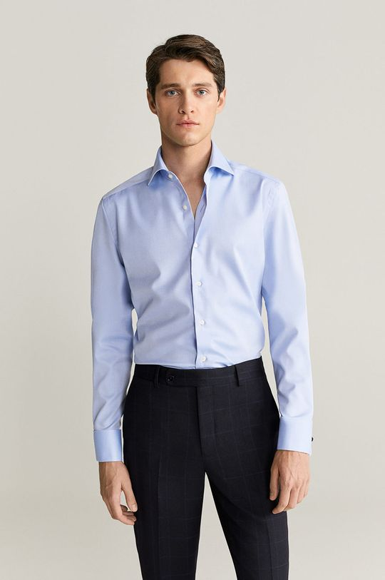 Mango Man - Košile Masnou světle modrá