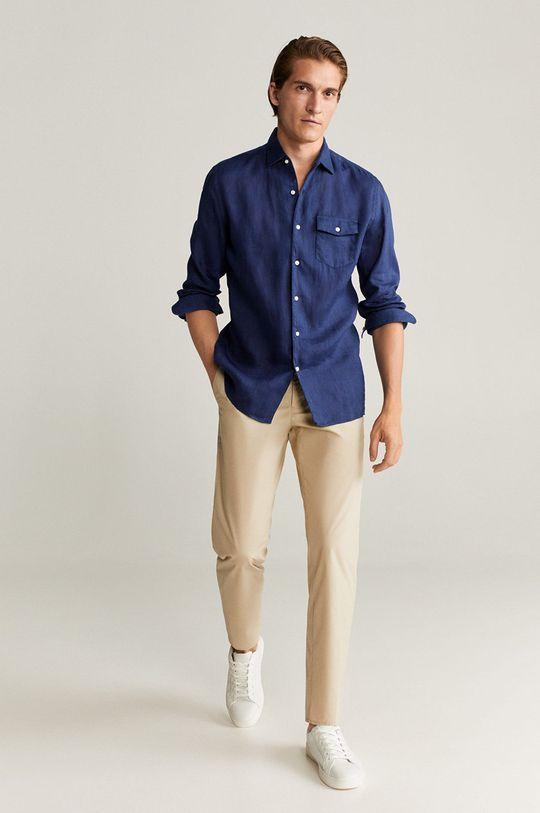 tmavomodrá Mango Man - Bavlnená košeľa Talper