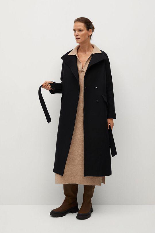 čierna Mango - Kabát Venus Dámsky