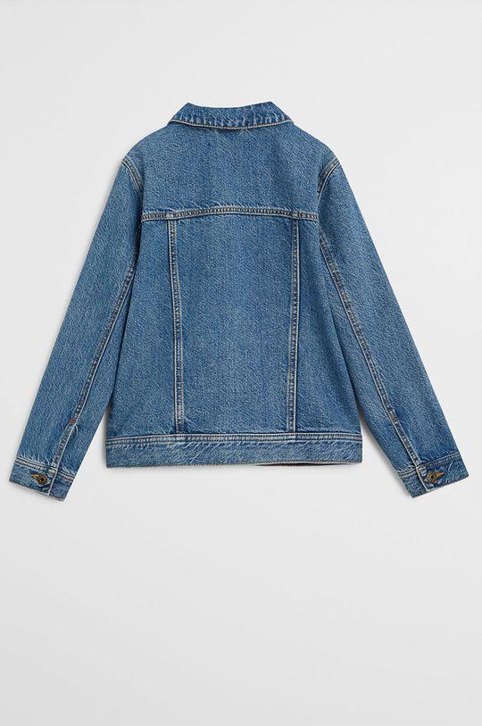Mango Kids - Kurtka jeansowa dziecięca John 110-164 cm niebieski