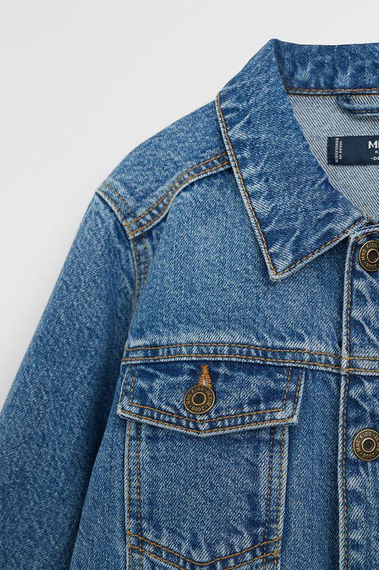 Mango Kids - Kurtka jeansowa dziecięca John 110-164 cm 100 % Bawełna