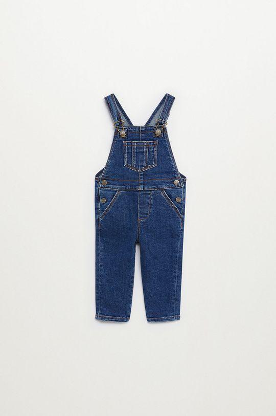 niebieski Mango Kids - Ogrodniczki dziecięce Lucas 80-104 cm Chłopięcy