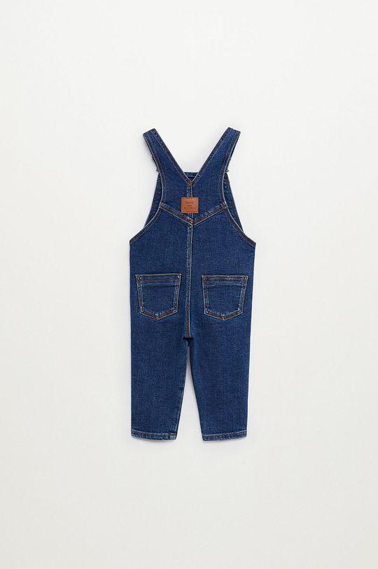 Mango Kids - Ogrodniczki dziecięce Lucas 80-104 cm niebieski