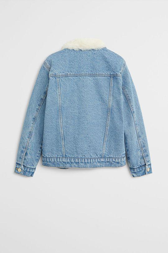 Mango Kids - Geaca jeans Lisa 116-164 cm albastru