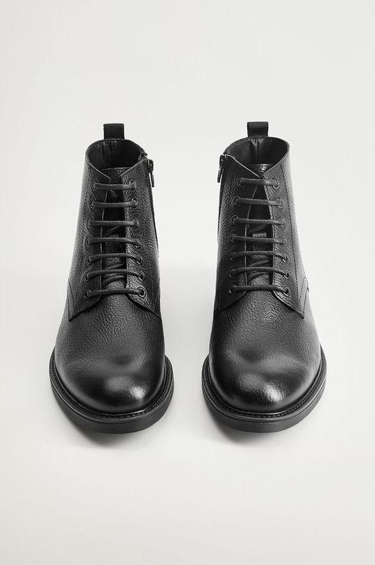 Mango Man - Kožené topánky Bombeado  Zvršok: Prírodná koža Vnútro: Textil, Prírodná koža Podrážka: Syntetická látka