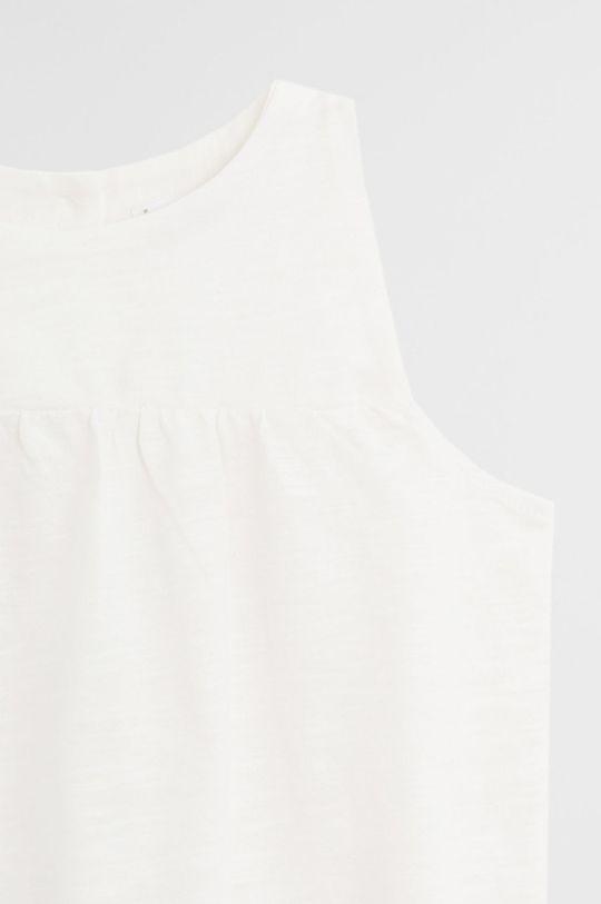 Mango Kids - Блузка для немовлят Leandra 62-80 cm білий