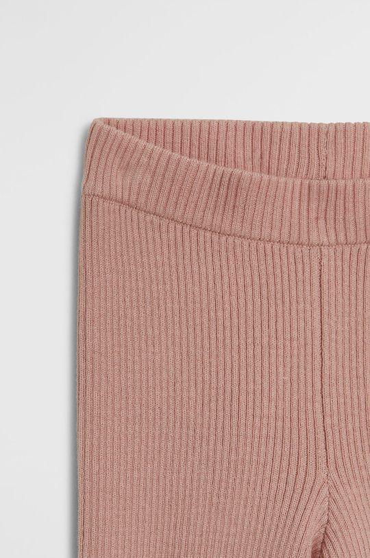 Mango Kids - Легінси для немовлят Panpany 62-80 cm рожевий