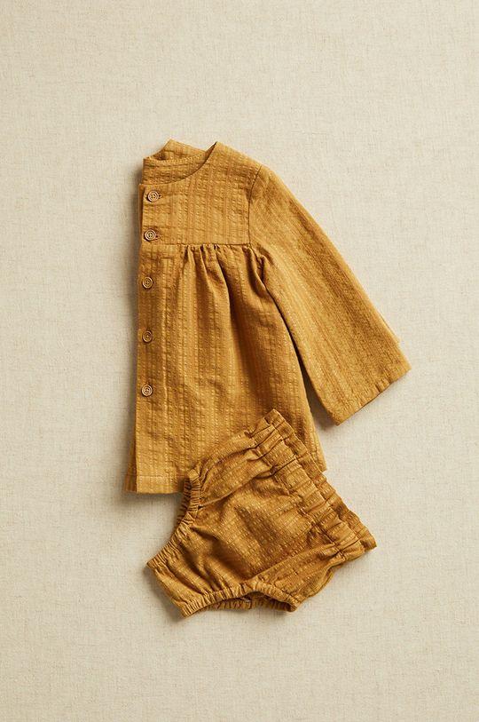 Mango Kids - Bluza bebe Brina 62-80 cm galben