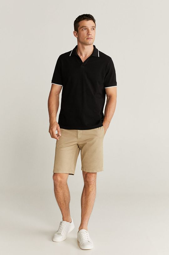 Mango Man - Tricou Polo Reaco negru