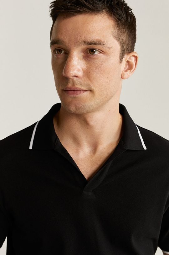negru Mango Man - Tricou Polo Reaco