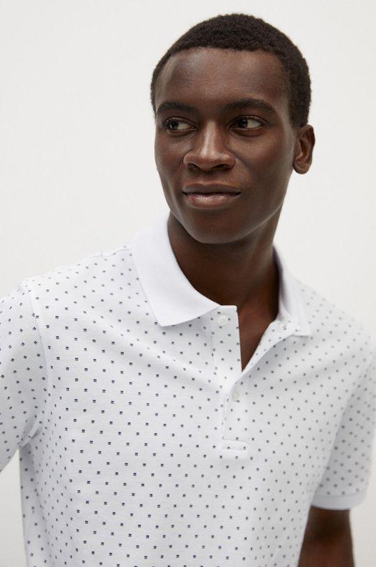 biela Mango Man - Polo tričko Dots