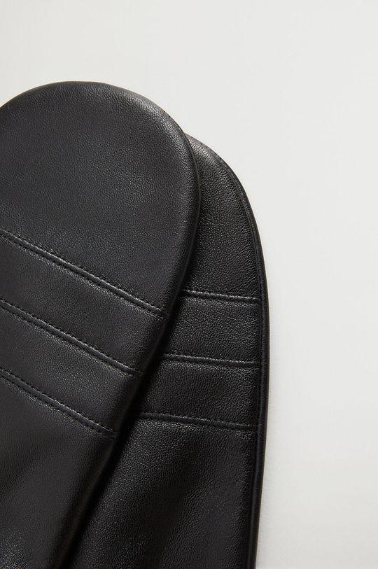 čierna Mango - Kožené rukavice Mani Dámsky