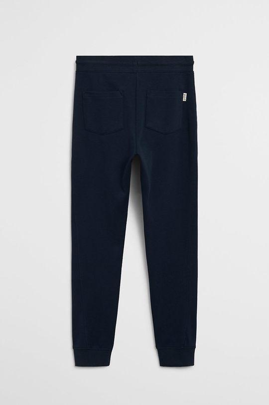 Mango Kids - Pantaloni copii Jumbo 110-164 cm bleumarin