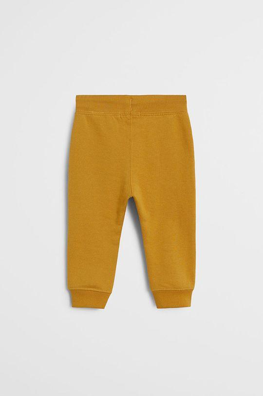 Mango Kids - Detské nohavice Mateo 80-104 cm žltá