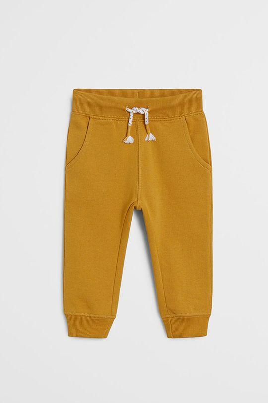 žltá Mango Kids - Detské nohavice Mateo 80-104 cm