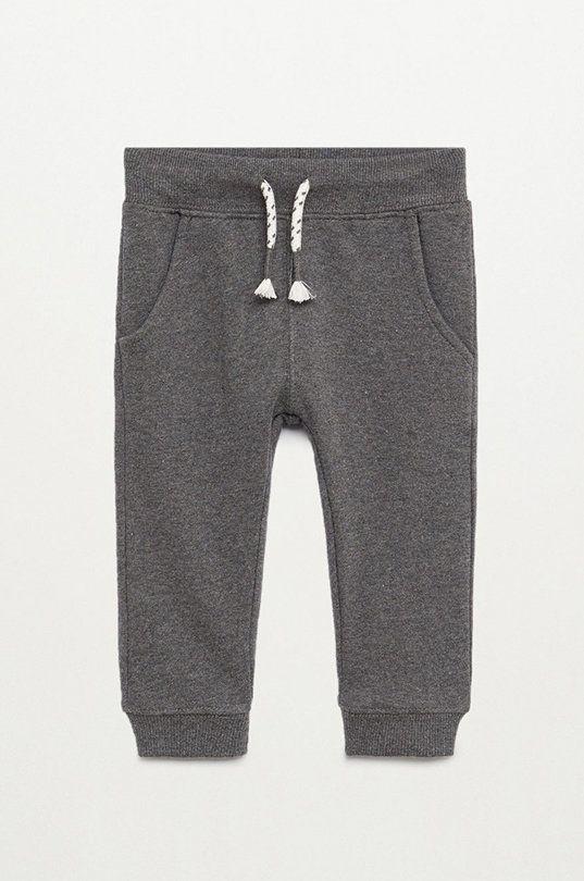 сірий Mango Kids - Дитячі штани Mateo 80-104 cm Для хлопчиків