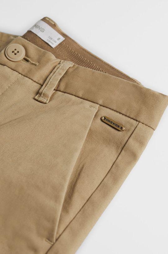 Mango Kids - Spodnie dziecięce Piccolo 110-164 cm Materiał zasadniczy: 98 % Bawełna, 2 % Elastan, Podszewka kieszeni: 35 % Bawełna, 65 % Poliester