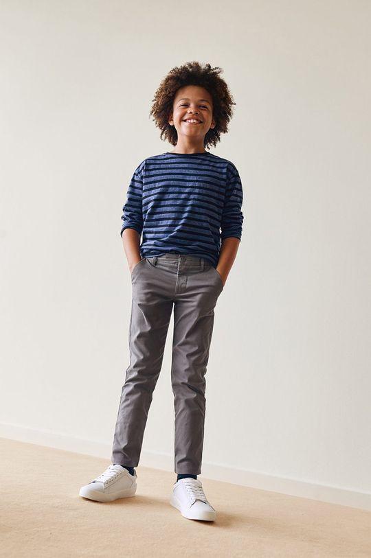 Mango Kids - Spodnie dziecięce Piccolo 110-164 cm jasny szary