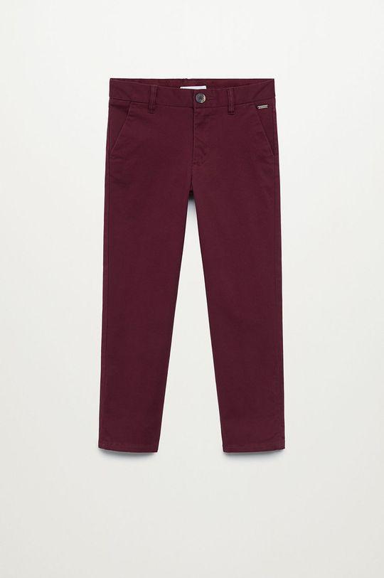 kasztanowy Mango Kids - Spodnie dziecięce Piccolo 110-164 cm Chłopięcy