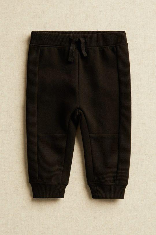 čierna Mango Kids - Detské nohavice Andy 80-104 cm Chlapčenský