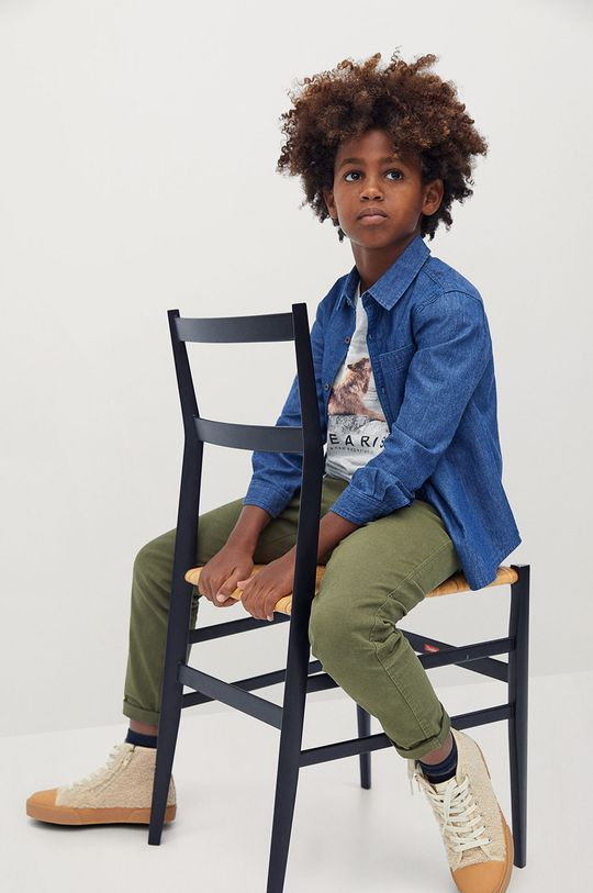 Mango Kids - Дитячі штани Franky 110-164 cm золотисто-коричневий