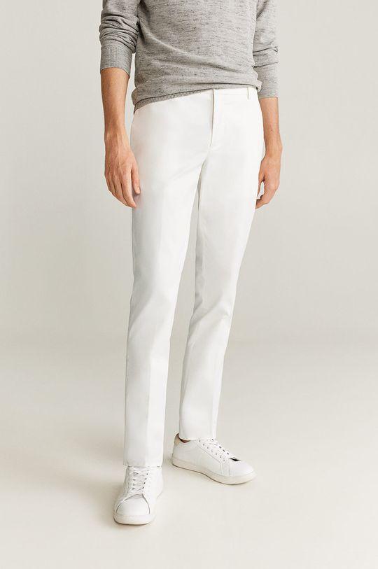 biały Mango Man - Spodnie Dublin Męski