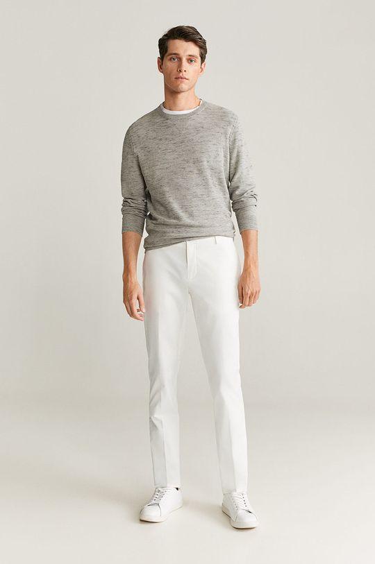 Mango Man - Spodnie Dublin biały