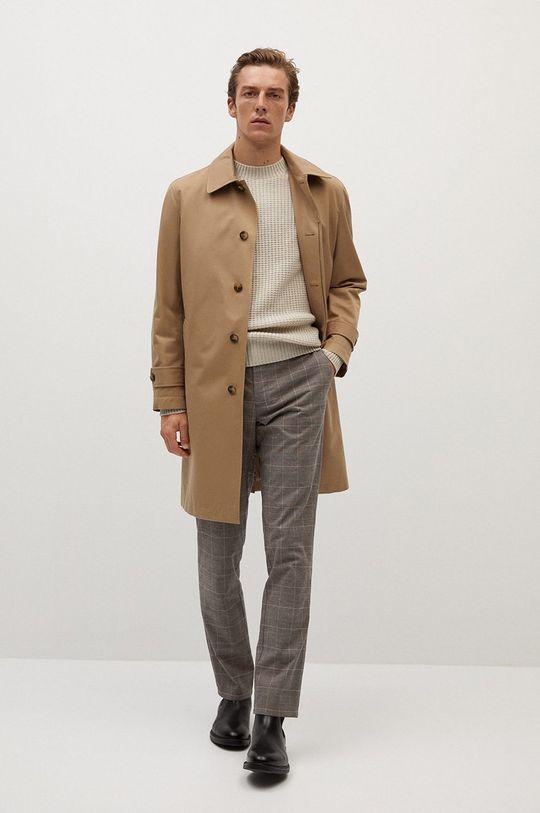 Mango Man - Spodnie Brest brązowy