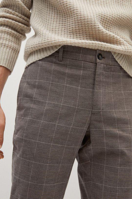 brązowy Mango Man - Spodnie Brest