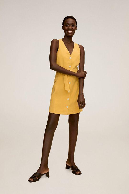 Mango - Сукня Malvi жовтий