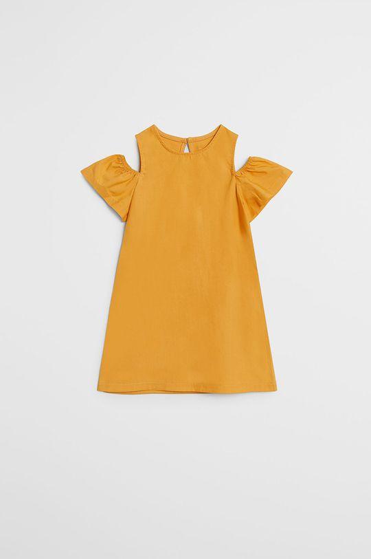 galben Mango Kids - Rochie fete Shoulder 80-104 cm De fete