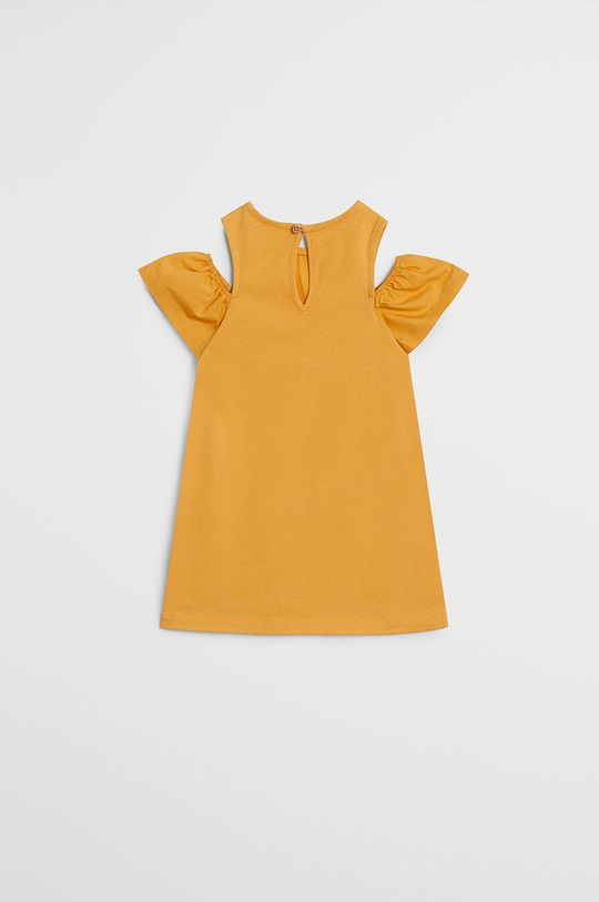 Mango Kids - Rochie fete Shoulder 80-104 cm galben