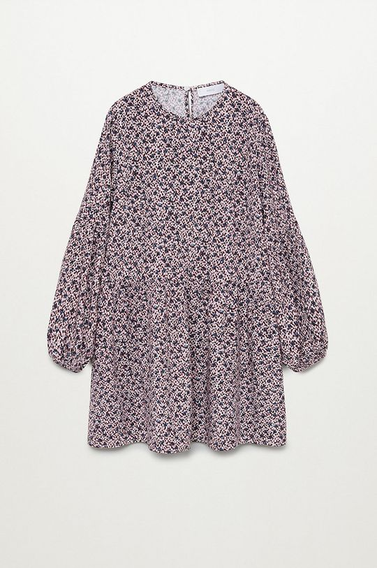 biela Mango Kids - Dievčenské šaty Doty 110-164 cm Dievčenský