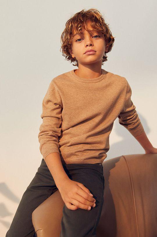Mango Kids - Sweter dziecięcy TEN jasny szary