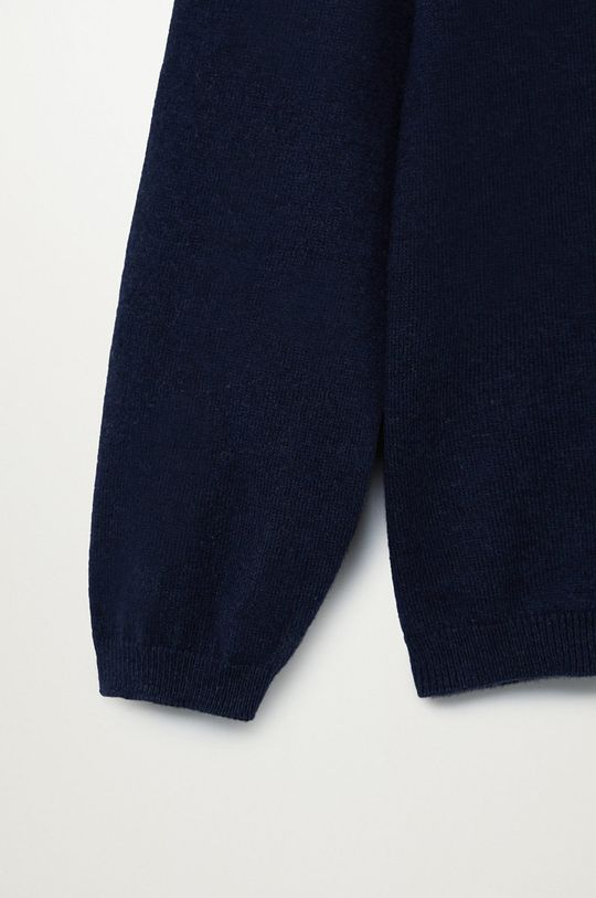 Mango Kids - Sweter dziecięcy TEN Materiał zasadniczy: 95 % Bawełna, 5 % Kaszmir, Wykończenie: 85 % Bawełna, 5 % Kaszmir, 10 % Poliamid
