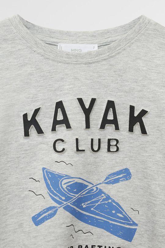 Mango Kids - Tricou copii Kayak 110-164 cm  95% Bumbac organic, 5% Viscoza