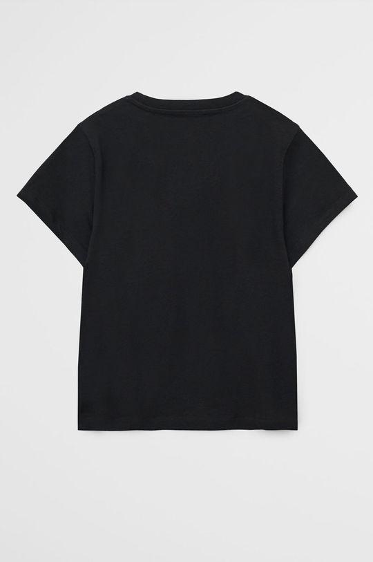 Mango Kids - Tricou copii Flap 110-152 cm negru