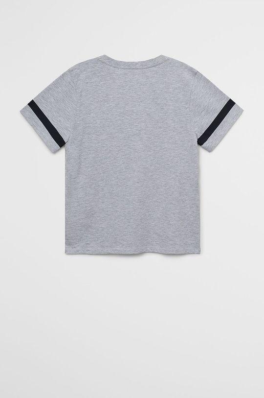 Mango Kids - Tricou copii Minimal7 110-164 cm gri
