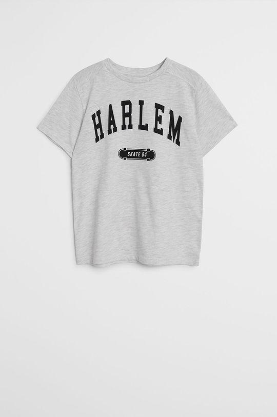 gri deschis Mango Kids - Tricou copii Harlem 110-164 cm De băieți