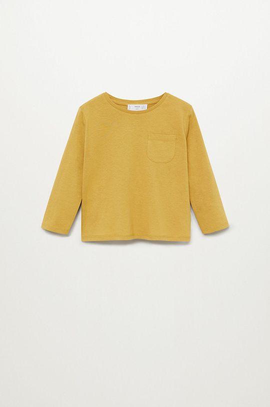 žltá Mango Kids - Detské tričko s dlhým rukávom Marcos7 80-104 cm Chlapčenský