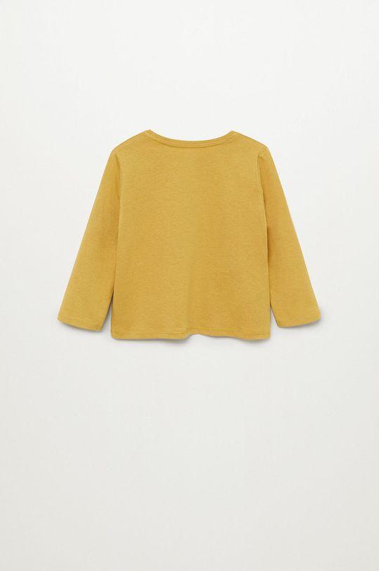 Mango Kids - Detské tričko s dlhým rukávom Marcos7 80-104 cm žltá