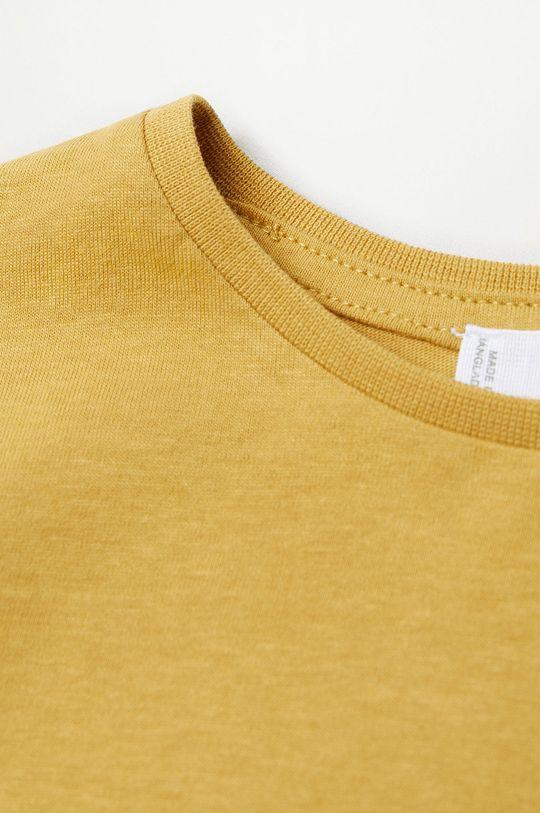 žltá Mango Kids - Detské tričko s dlhým rukávom Marcos7 80-104 cm