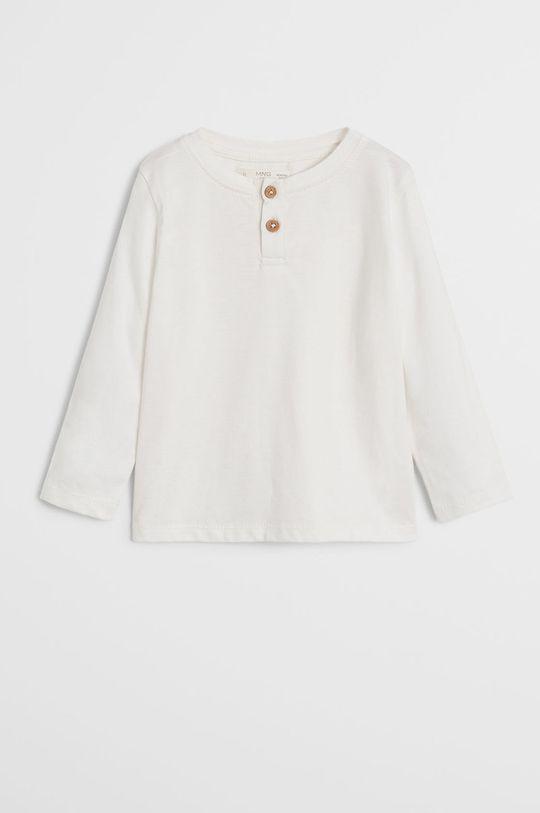 biela Mango Kids - Detské tričko s dlhým rukávom Duran 80-104 cm Chlapčenský